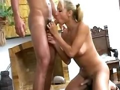 Lustful tranny n guy blow